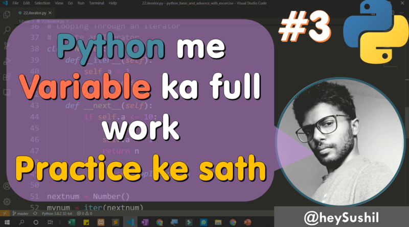 """Watch """"How to use variables in python 