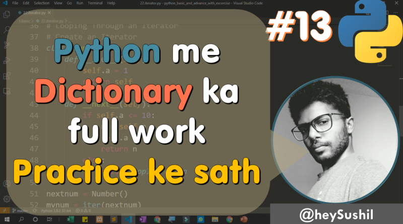 How to Use of dictionary and related methods in python | Full Python Course in Hindi