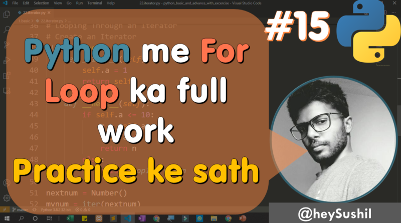 How to Use For Loop in Python | Full Python Course in Hindi