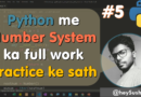 """Watch """"About Python Number System n work of binary octal decimal hexadecimal 