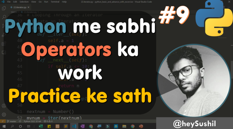 Python operators type and use | Full Python Course in Hindi